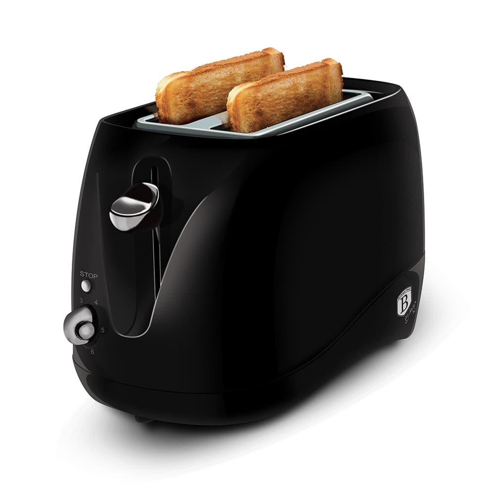 Toaster 2 sloturi, 2 functii, 840W, Black Silver
