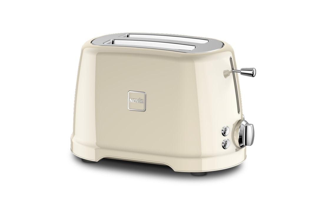 Toaster 2 sloturi, 4 functii, 900W, Novis T2 Crem imagine 2021