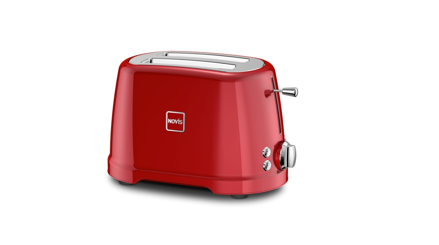 Toaster 2 sloturi, 4 functii, 900W, Novis T2 Rosu