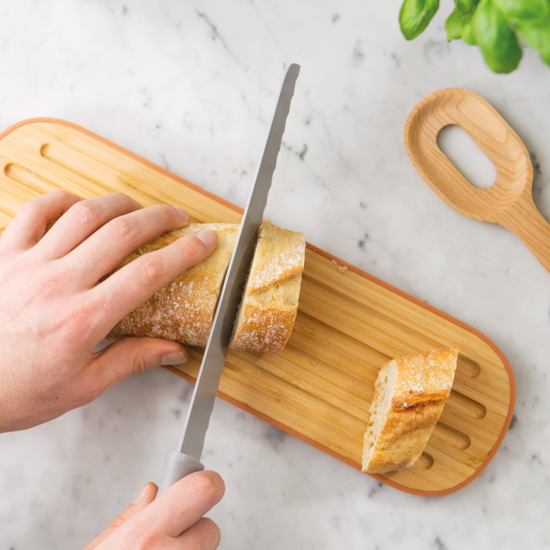 Tocator pentru paine, Bambus, Orange, Leo Line poza