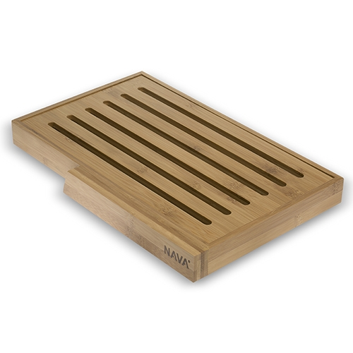 Tocator pentru paine Terrestrial, bambus, 37x24 cm poza