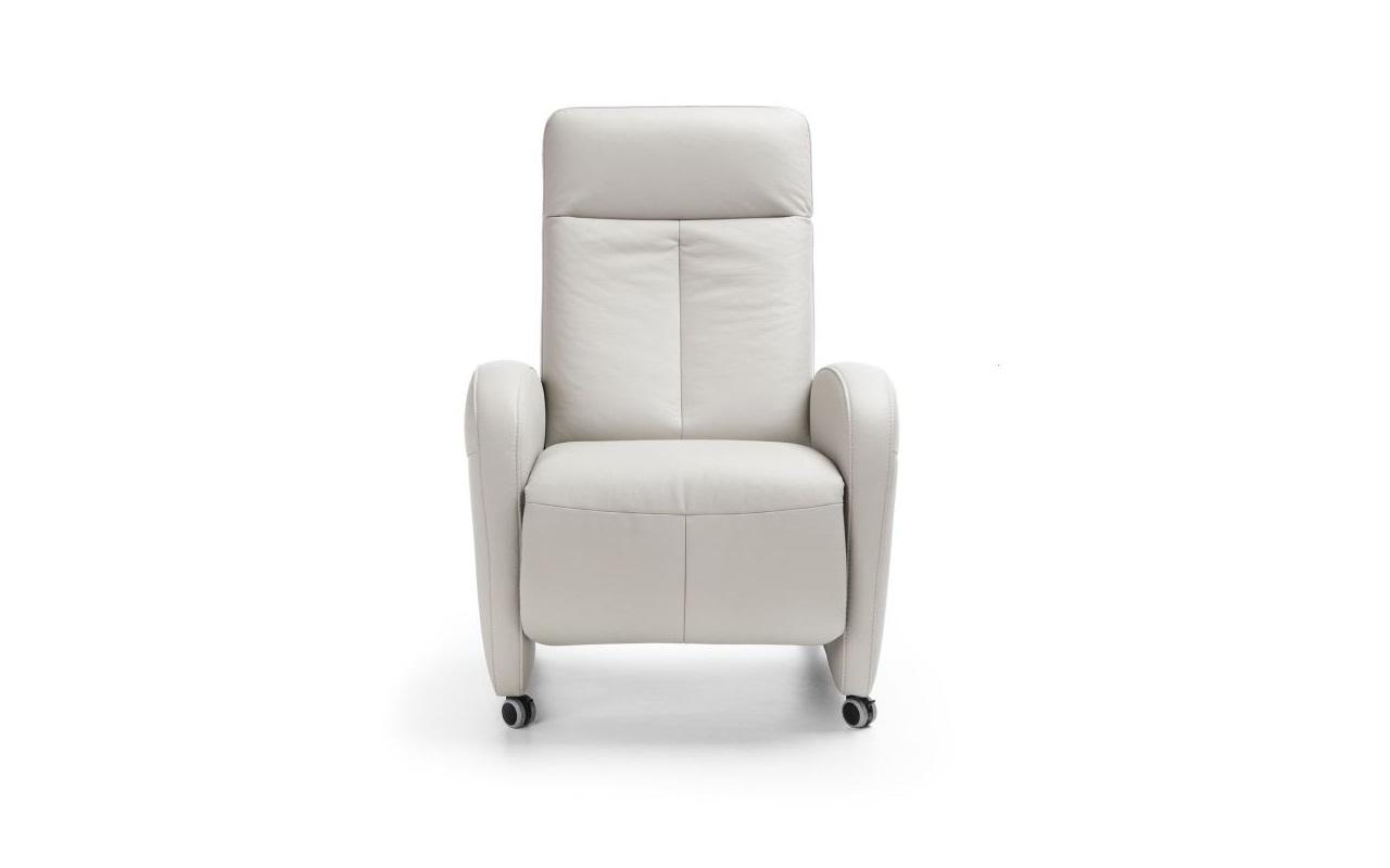 Fotoliu recliner tapitat cu piele ecologica Tom White l77xA91xH105 cm