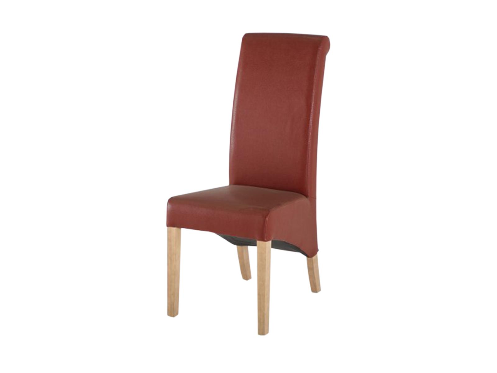Scaun tapitat cu piele ecologica Torino Red