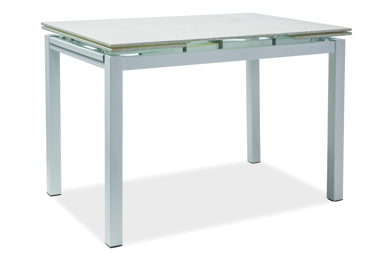 Masa extensibila din sticla Turin White L110-170xl70xh76 cm