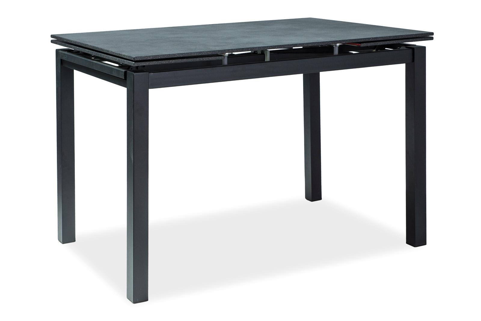 Masa extensibila din sticla Turin Black, L110-170xl70xh76 cm