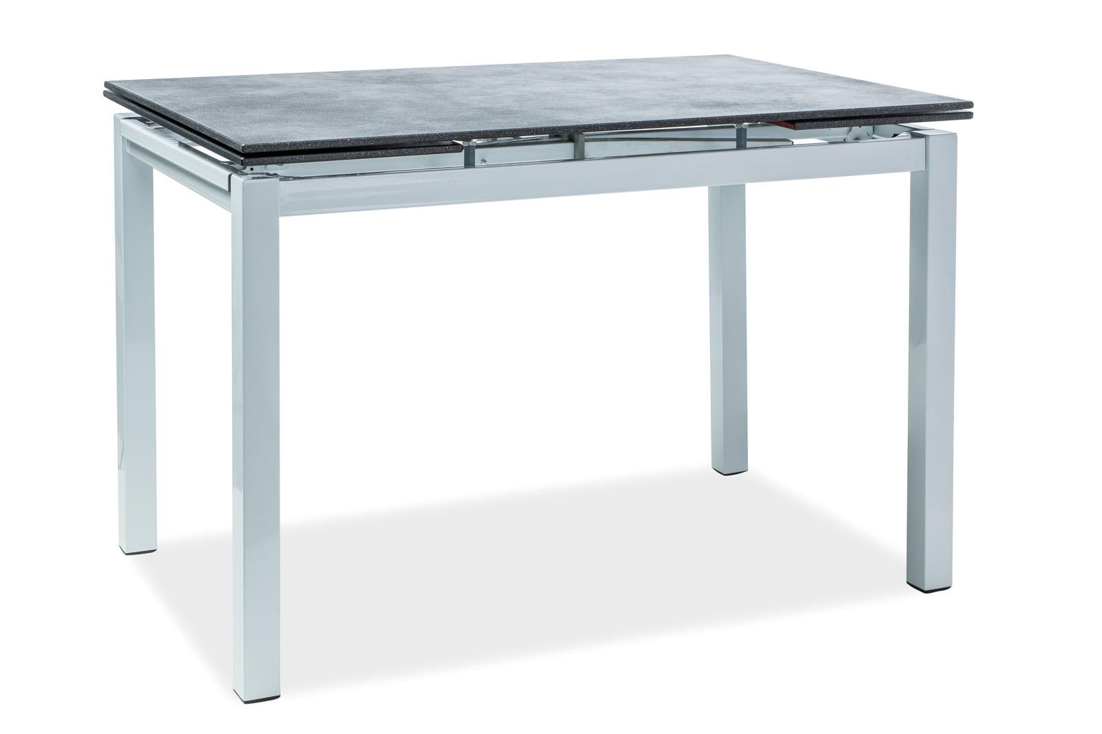 Masa extensibila din sticla Turin Black / White, L110-170xl70xh76 cm