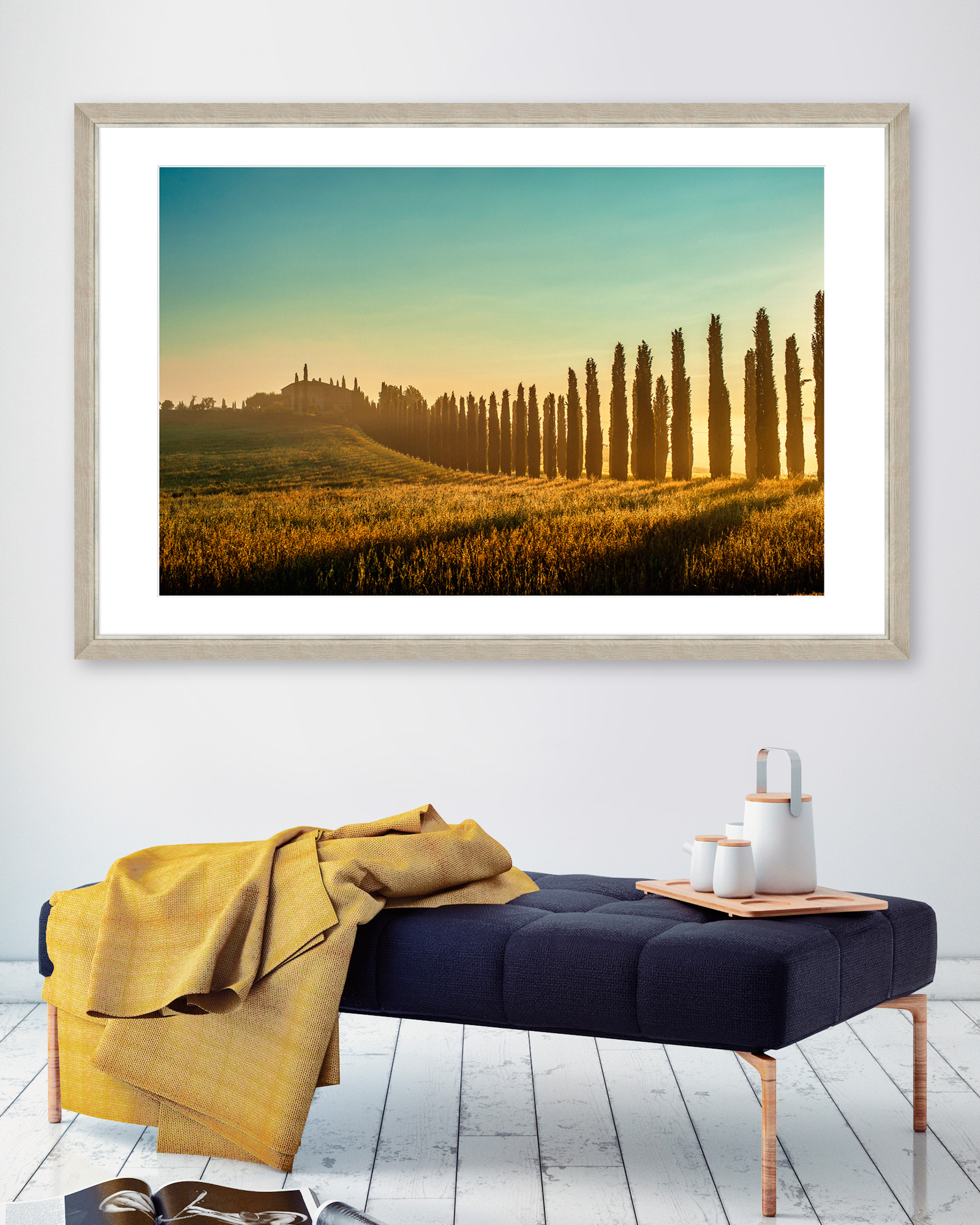 Tablou Framed Art Tuscany Landscape imagine