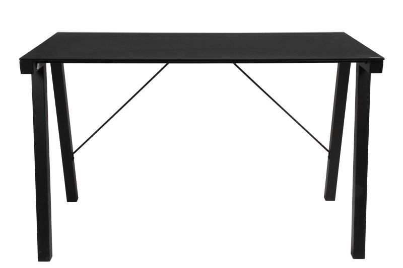 Masa de birou din metal si sticla Typhoon Black, L125xl65xh77,5 cm