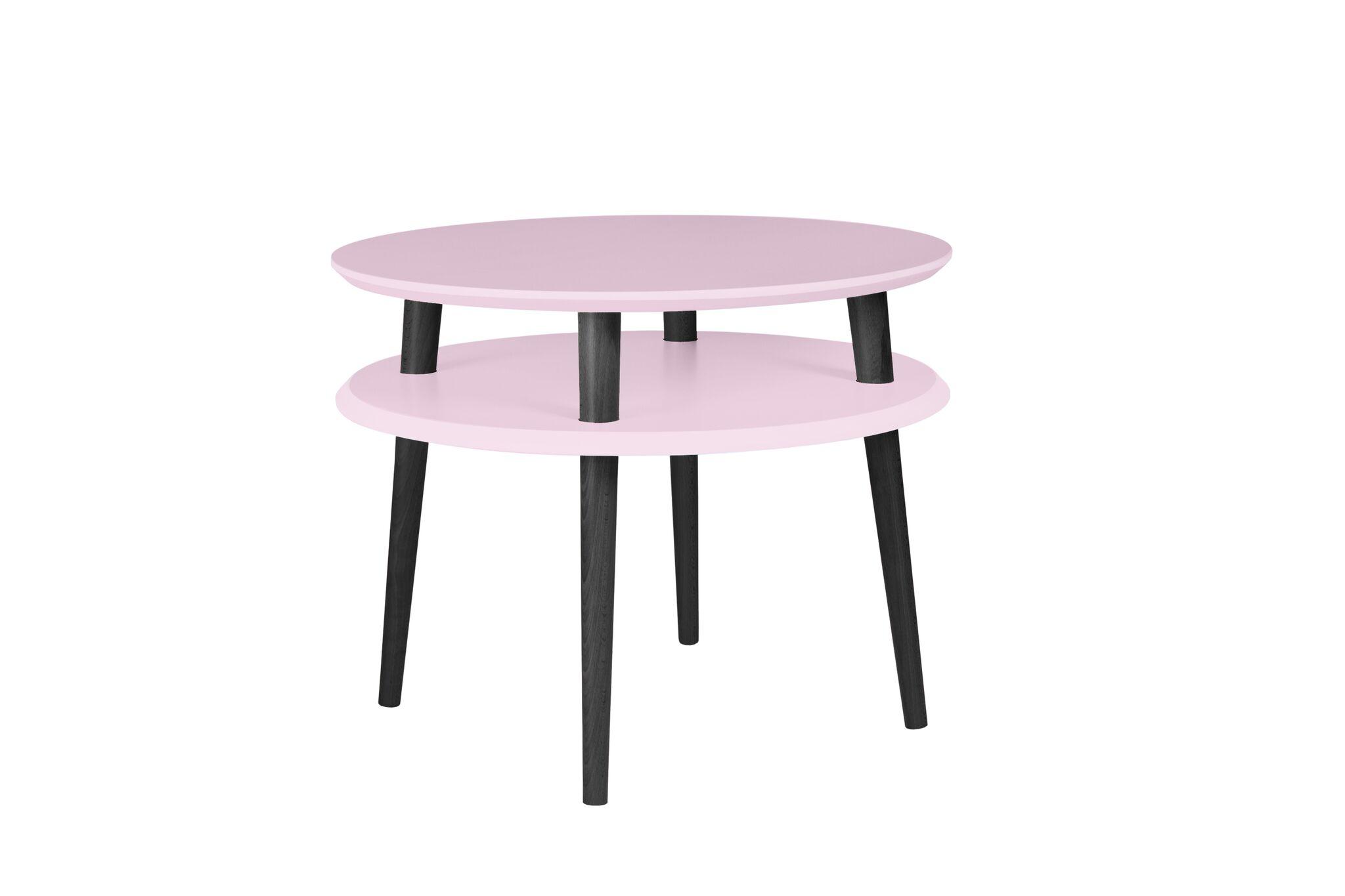 Masa de cafea Ufo Medium Dusky Pink / Black O57xh45 cm
