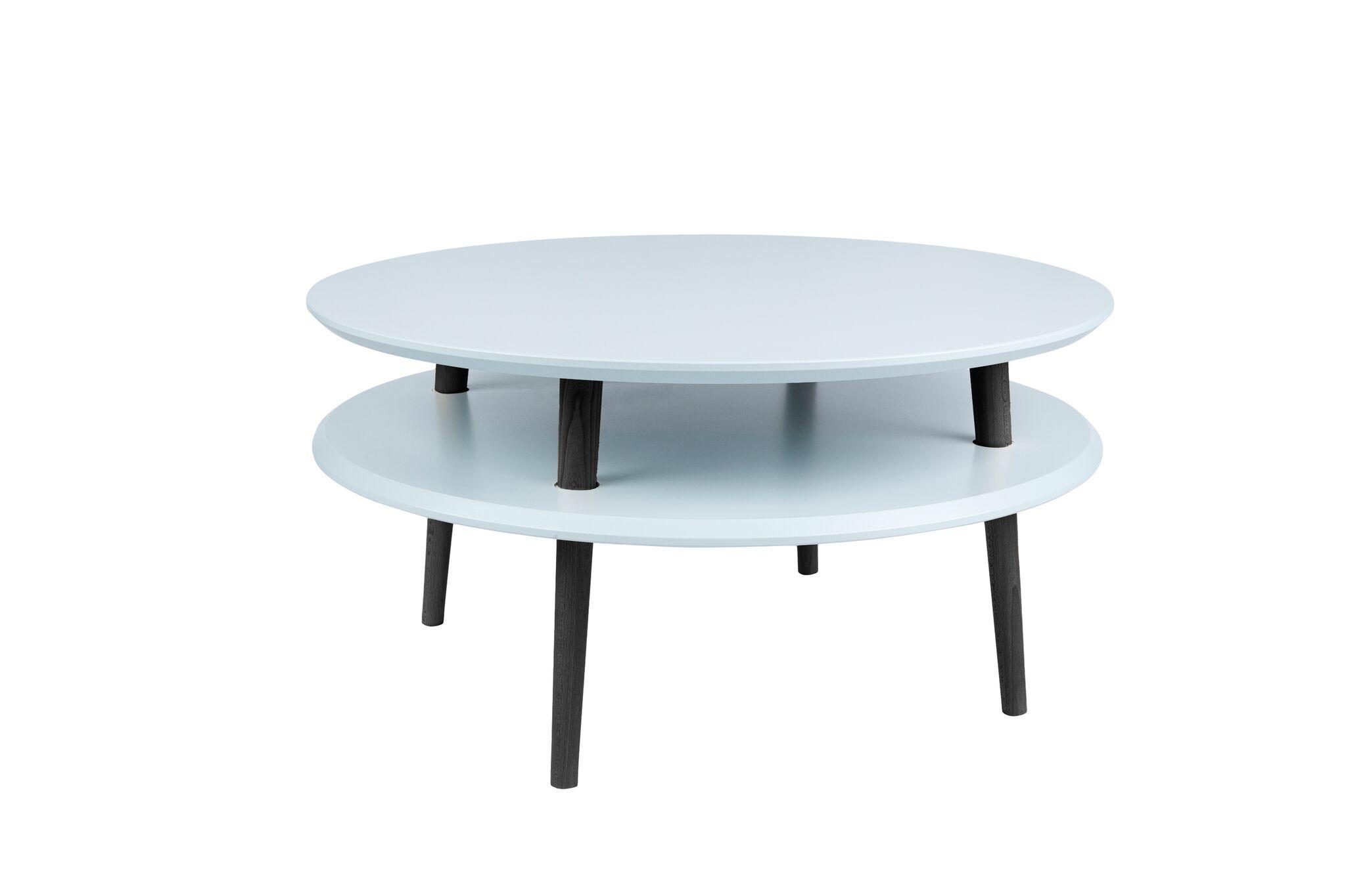Masa de cafea Ufo Low Light Grey / Black O70xh35 cm