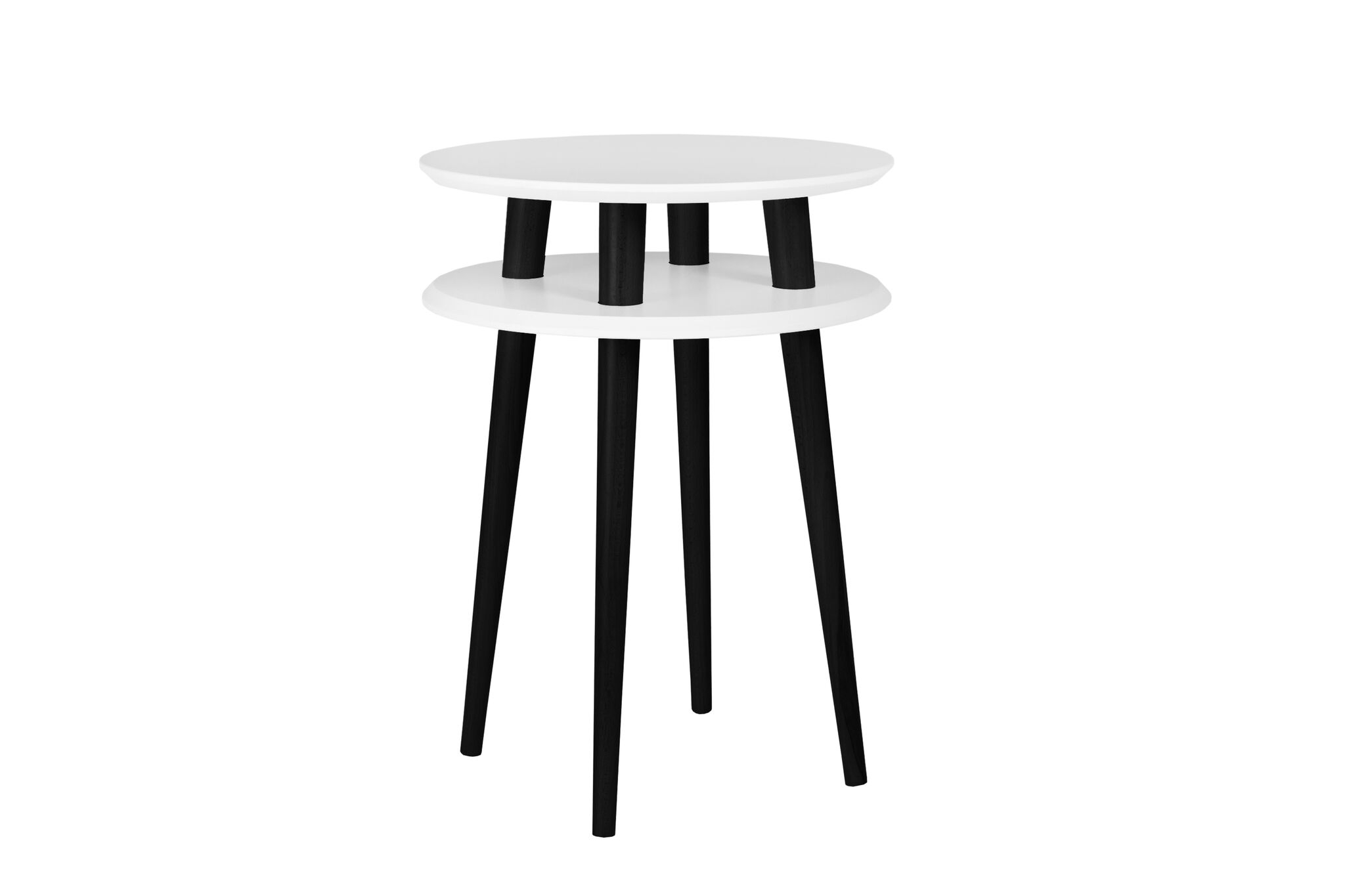 Masa de cafea Ufo High White / Black O45xh61 cm