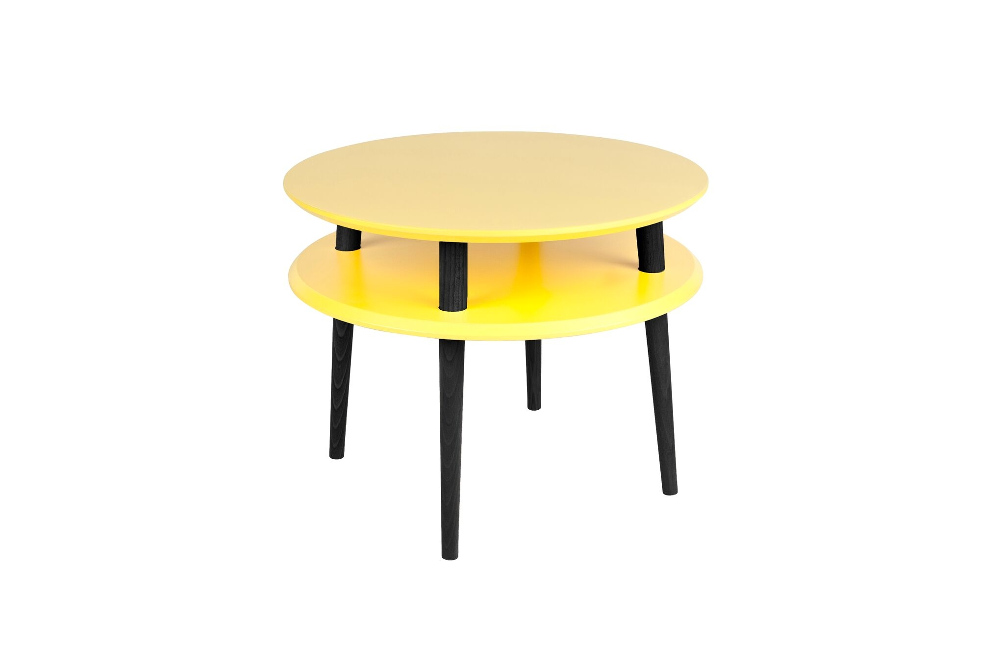 Masa de cafea Ufo Medium Yellow / Black O57xh45 cm