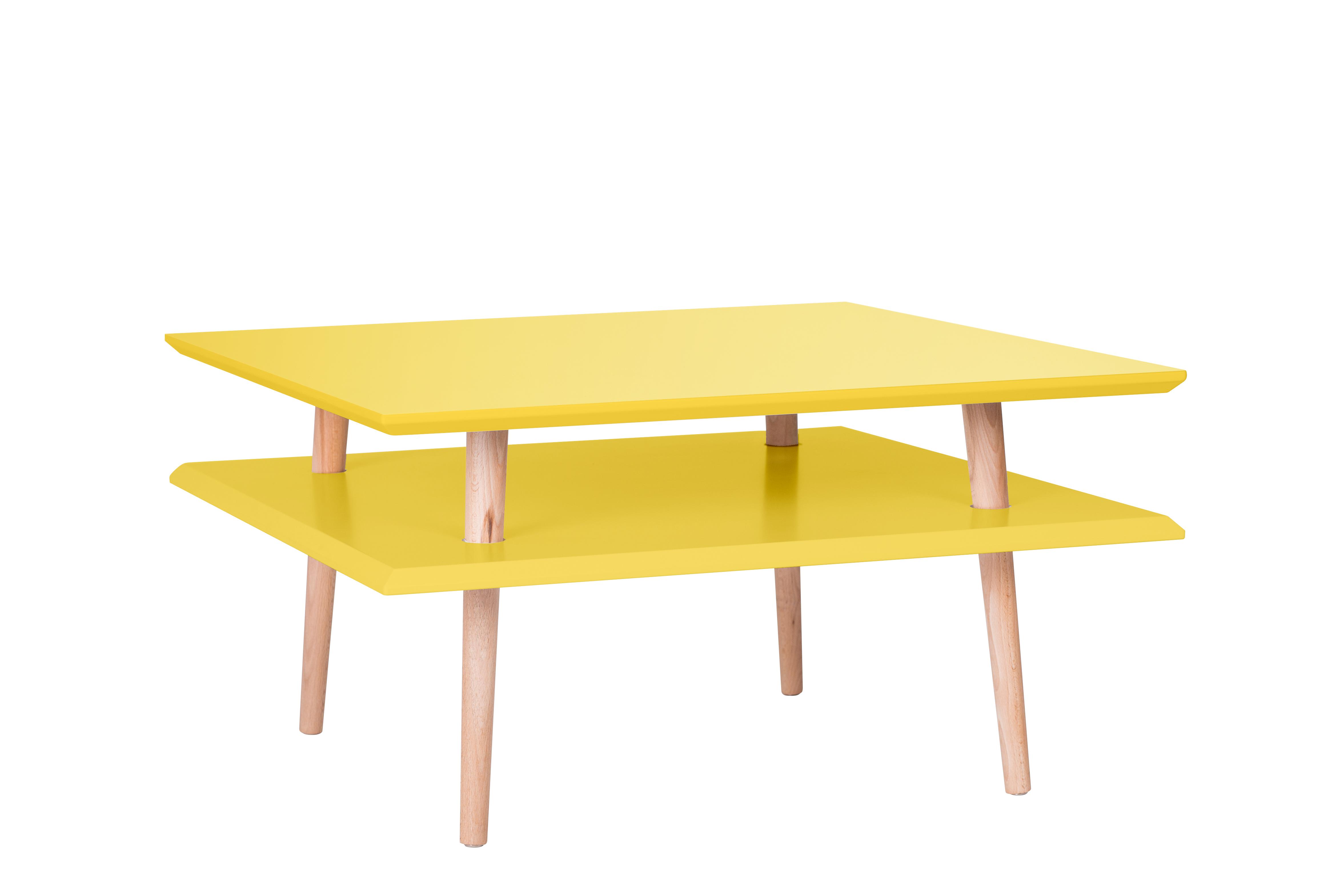 Masa de cafea Ufo Square Low Yellow, L68xl68xh35 cm