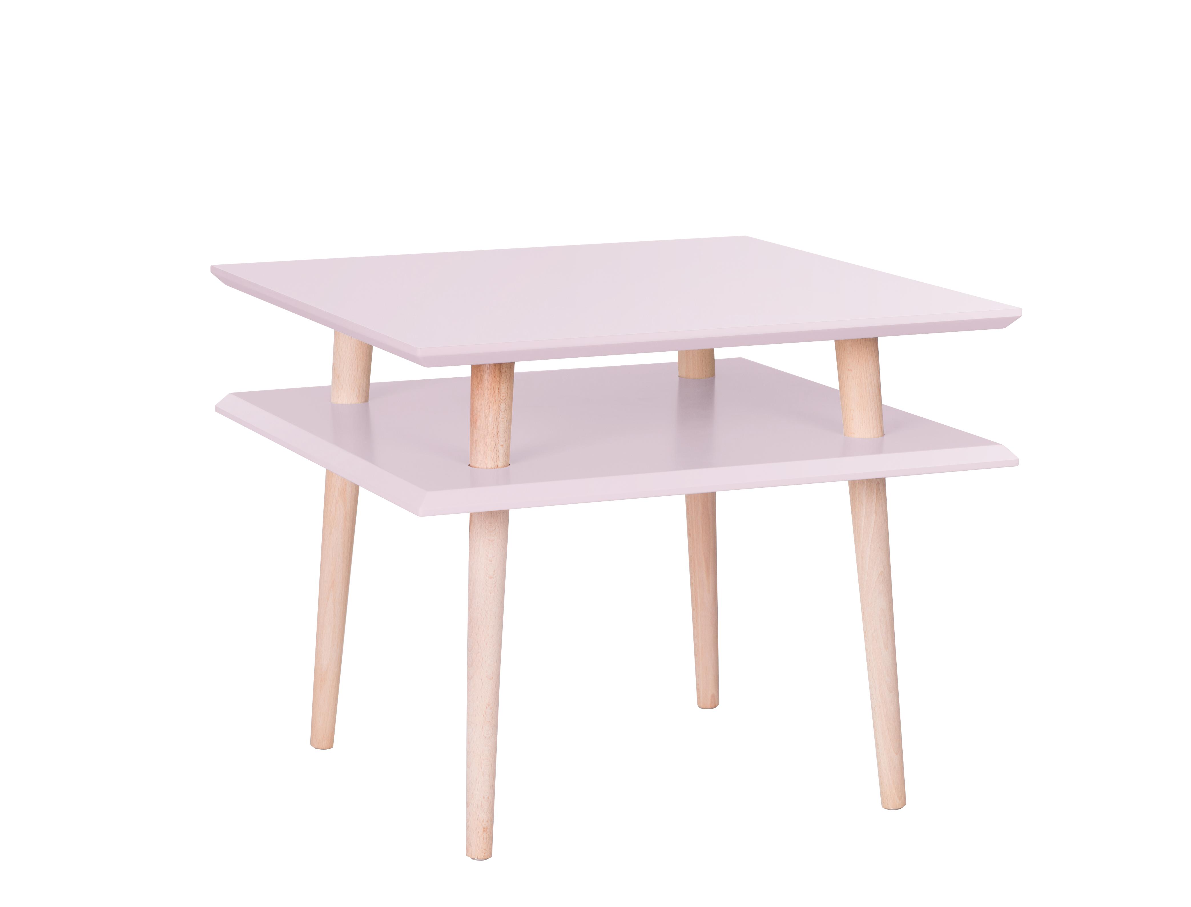poze cu Masa de cafea Ufo Square Medium Dusky Pink, L55xl55xh45 cm