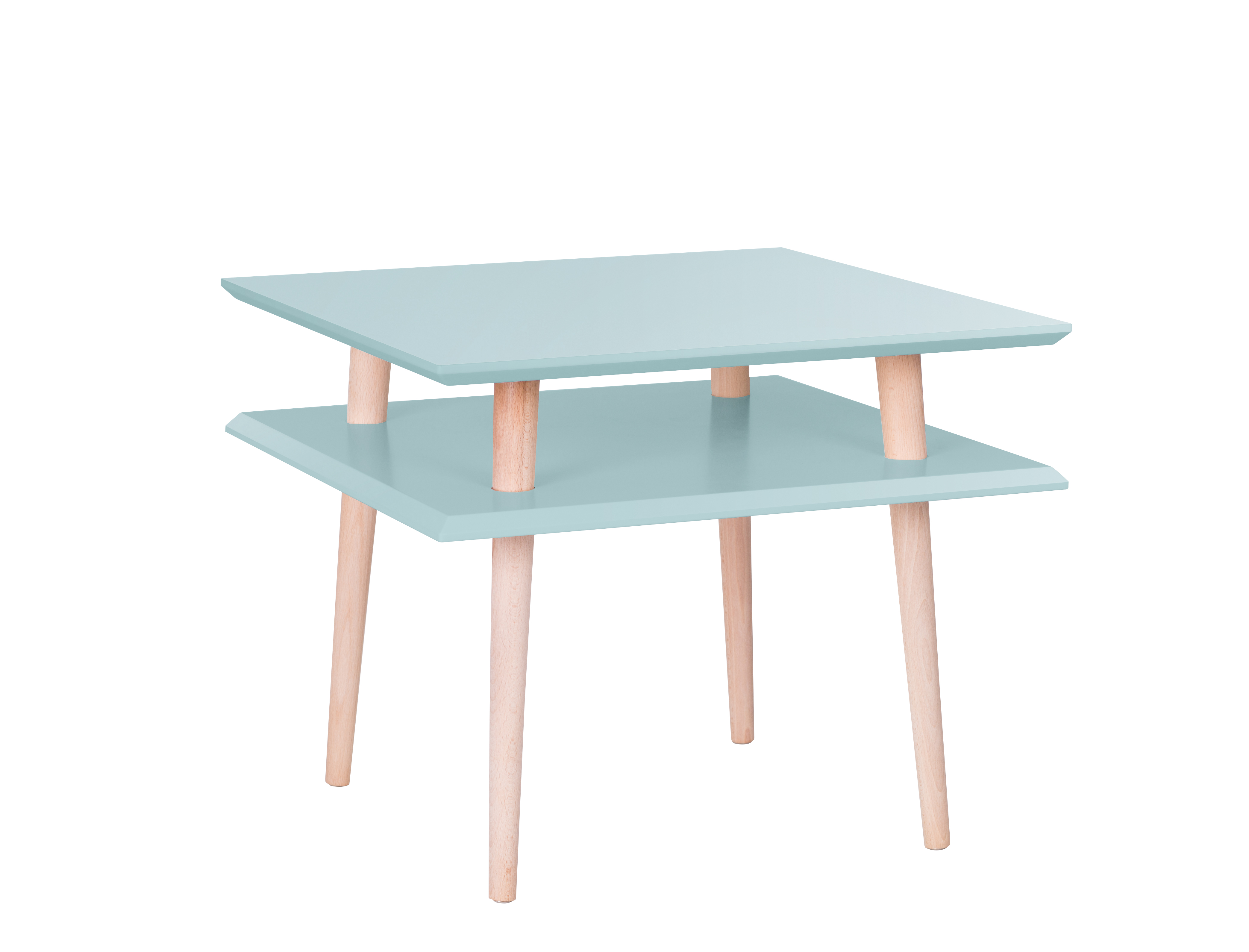 poze cu Masa de cafea Ufo Square Medium Light Turquoise, L55xl55xh45 cm