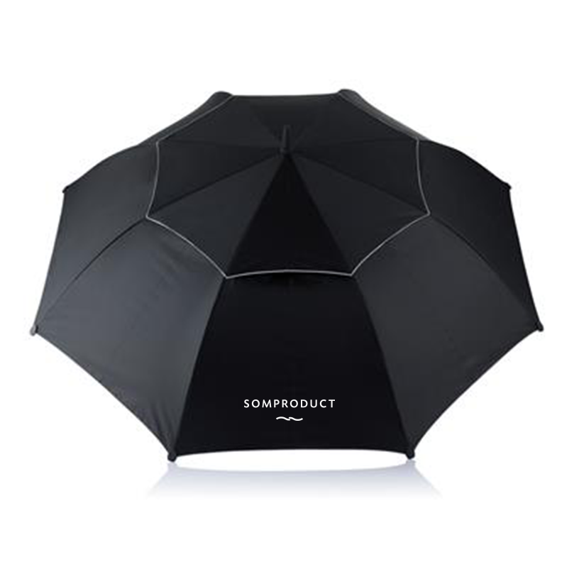 Umbrela pentru 2 persoane, Hurricane Negru, Ø96xH120 cm, SomProduct somproduct.ro