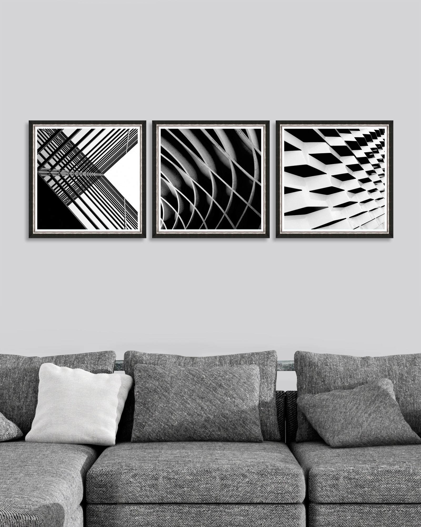 Tablou 3 piese Framed Art Urban Geometry