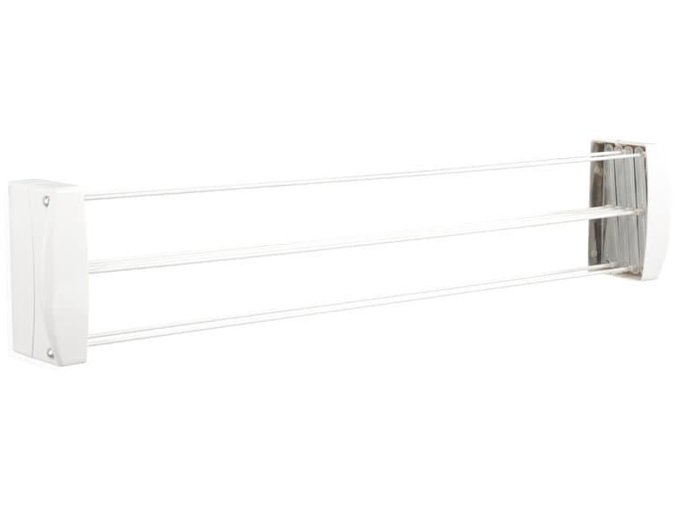 Uscator rufe extensibil pentru perete, cadru metalic, Teleclip Alb, 7,4 m