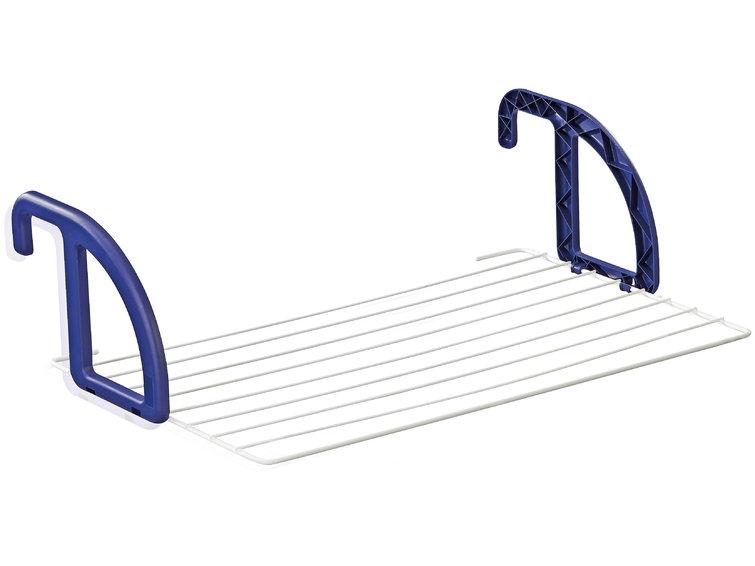 Uscator rufe pentru balcon, cadru din aluminiu, Classic 70 Alb / Albastru, 7 m
