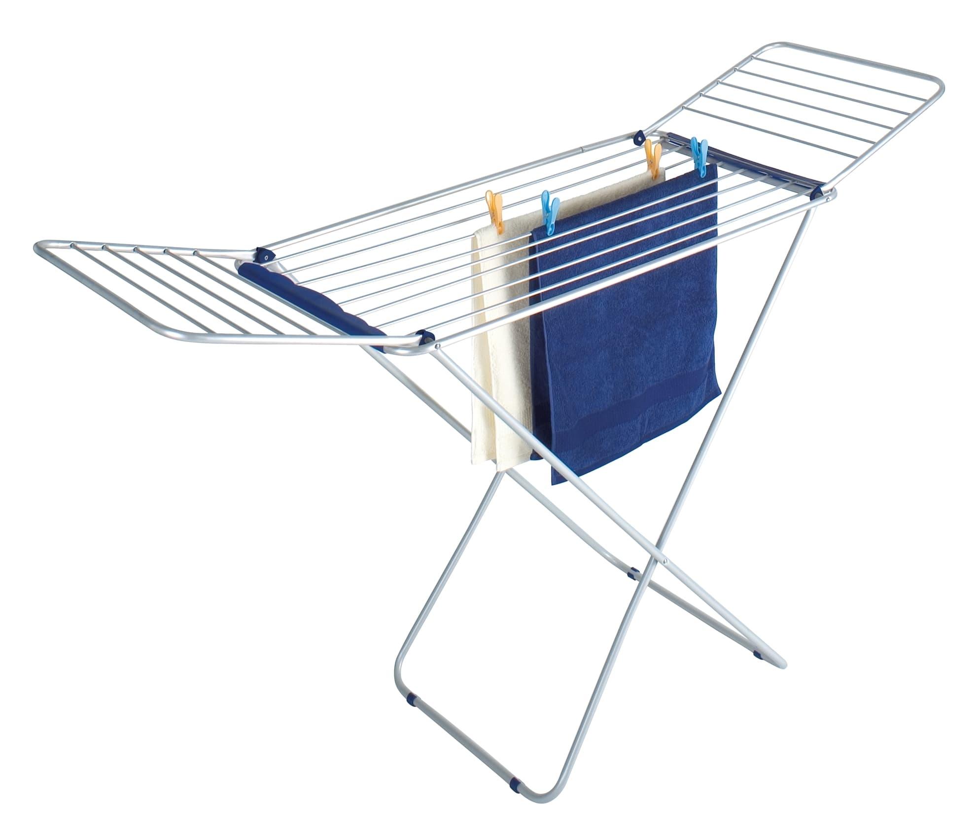Uscator rufe pliabil, cadru metalic, Wings Gri Deschis, 16 m imagine