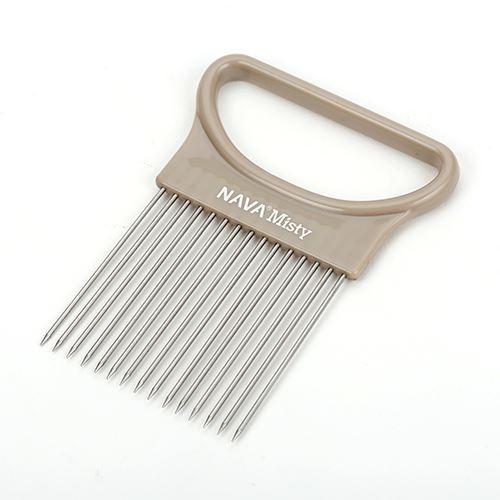 Ustensila pentru taiat ceapa Misty Gri, 10,6 x 8 cm imagine