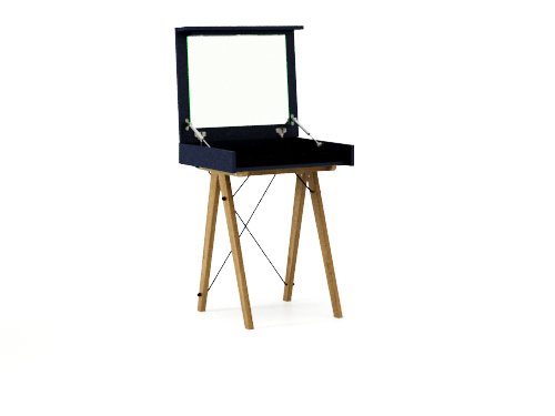 Masa machiaj Mini cu oglinda Dark Navy L60xl50xh75 cm