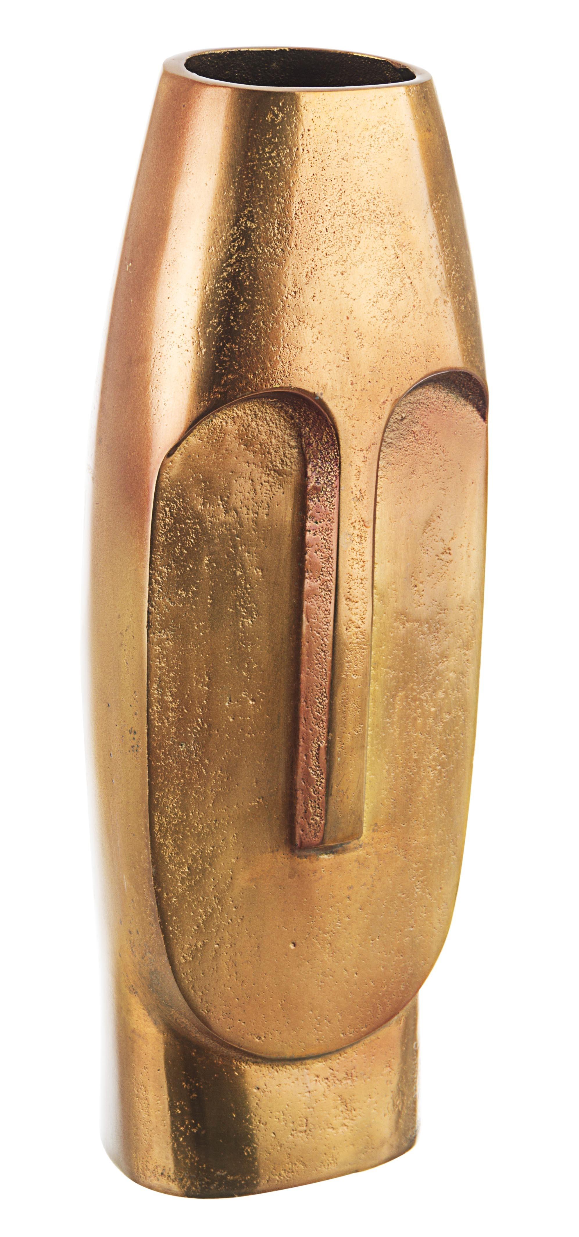 Vaza decorativa din aluminiu Asmita High Alama, L5,5xl4,5xH39 cm