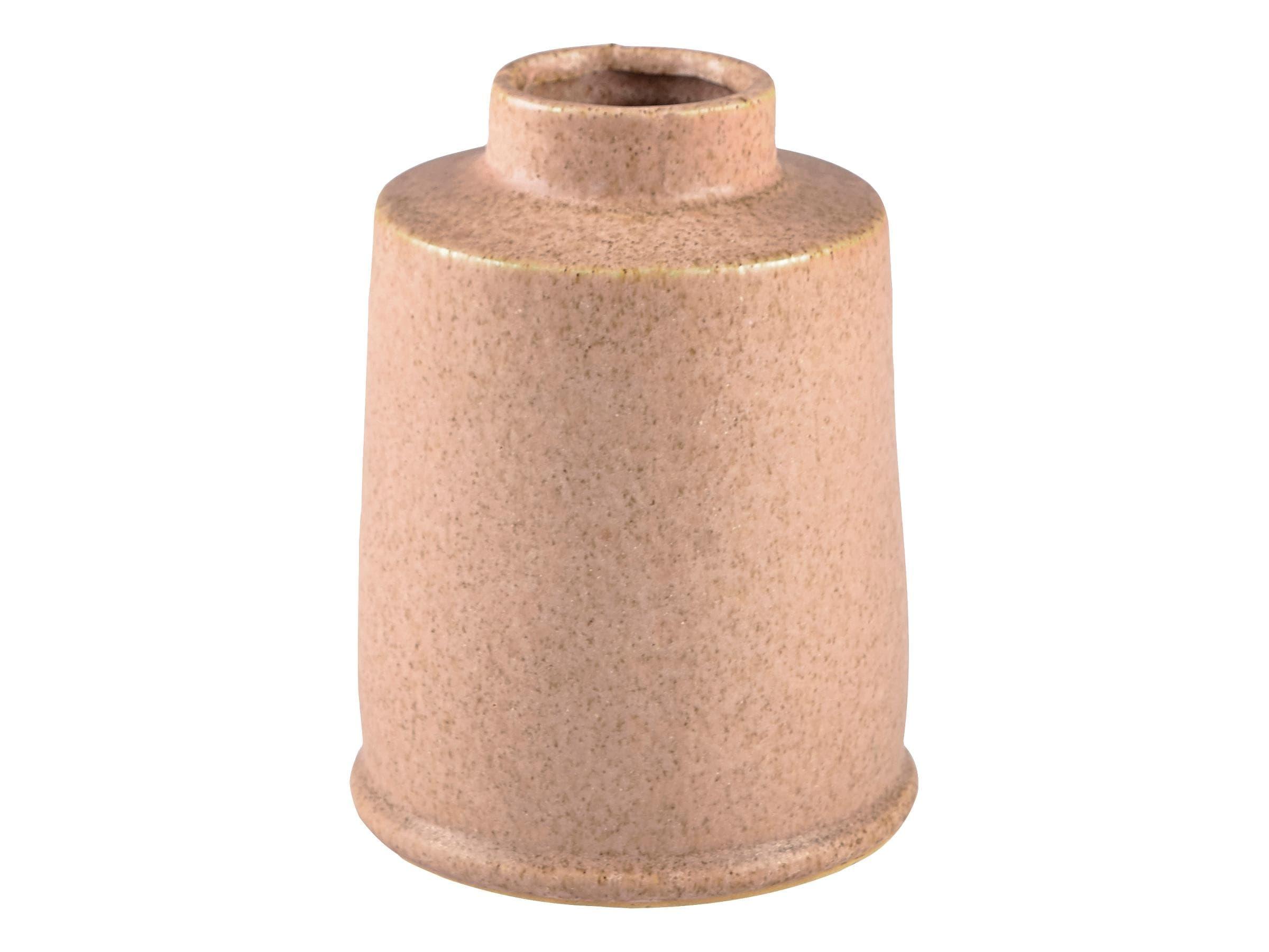 Vaza decorativa din ceramica Stone Round 12432 Natural, Ø11,5xH15 cm, Villa Collection