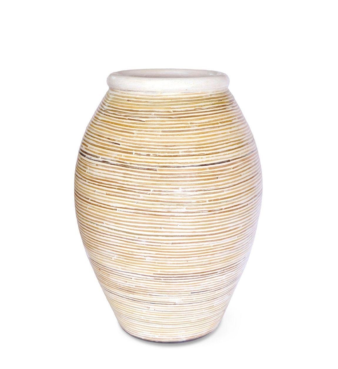 Vaza decorativa din ceramica Baio Crem, Ø30xH40cm