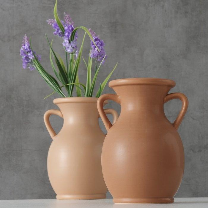 Vaza decorativa din ceramica Samra Maro, Modele Asortate, Ø14xH18 cm poza