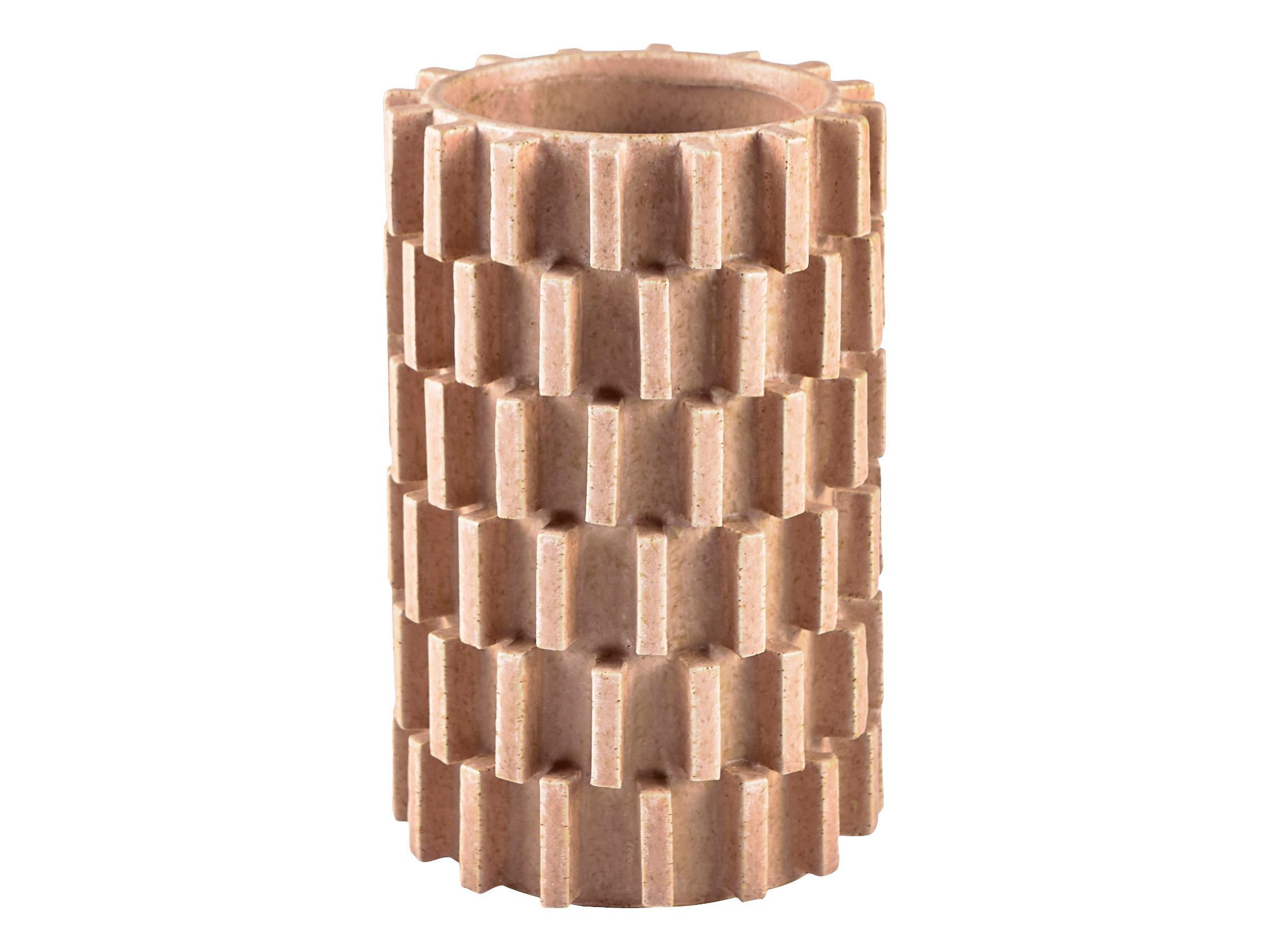 Vaza decorativa din ceramica Stone 12224 Natural, Ø13,5xH20,5 cm, Villa Collection poza