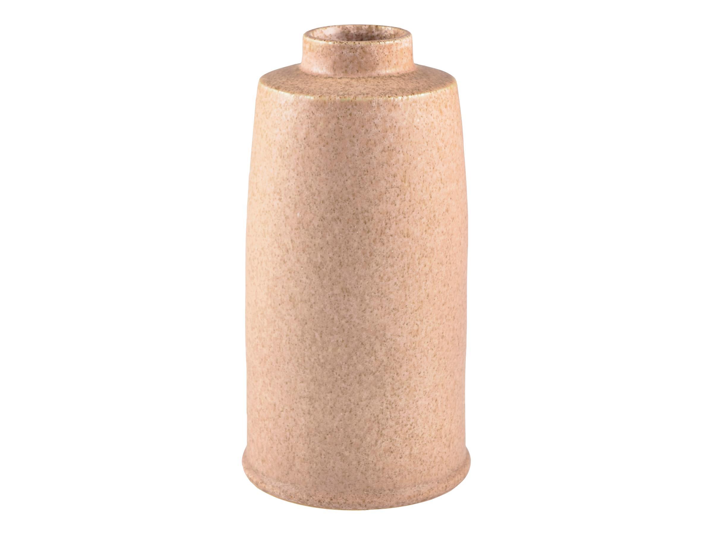 Vaza decorativa din ceramica Stone Round Large 12433 Natural, Ø12,5xH24,5 cm, Villa Collection poza