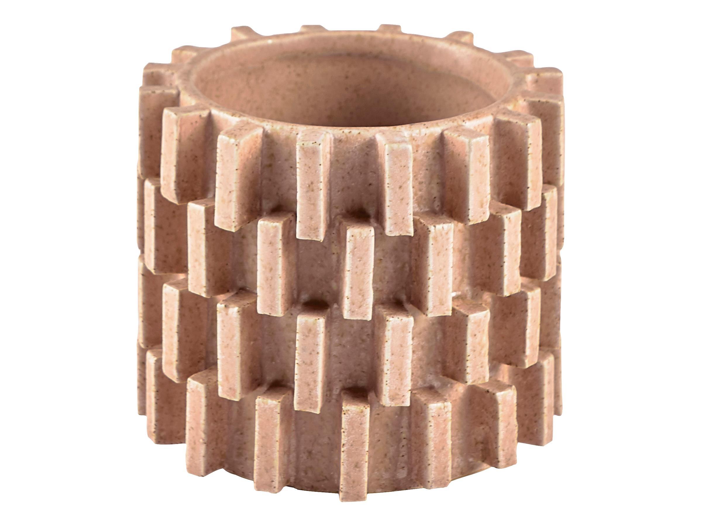 Vaza decorativa din ceramica Stone Small 12223 Natural, Ø12,5xH10,8 cm, Villa Collection poza