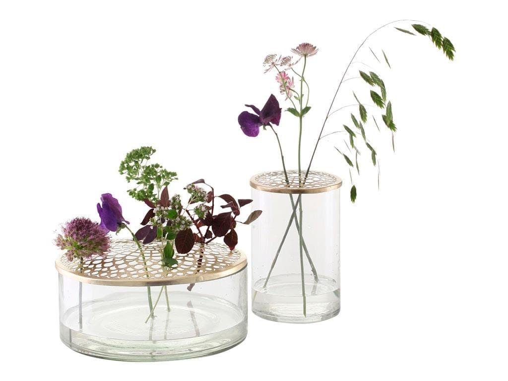 Set 2 vaze decorative din sticla Brassy 963521 Alama, Ø8xH6,5 cm / Ø6xH8 cm, Villa Collection