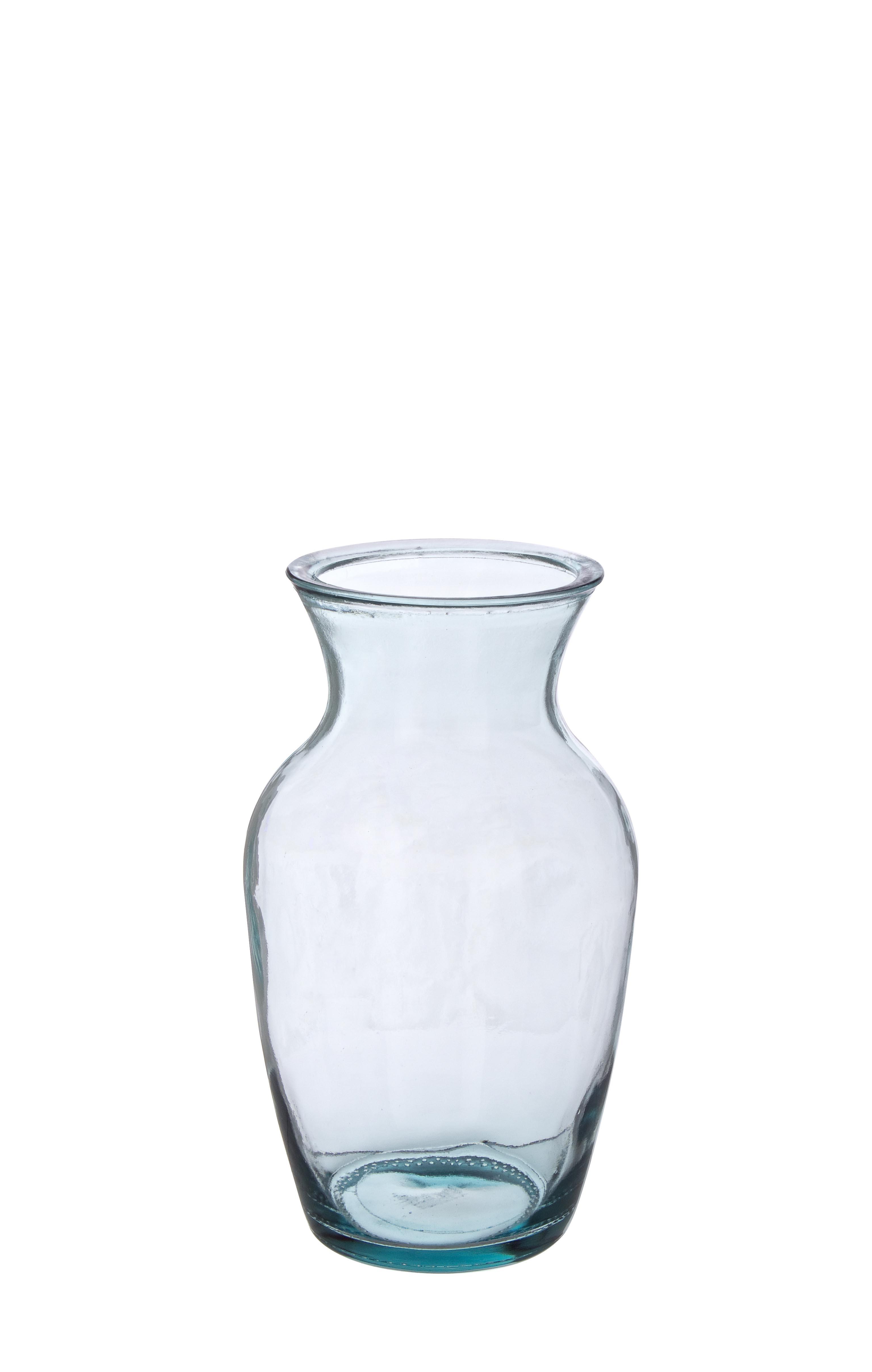 Vaza decorativa din sticla Classic Transparent, Ø14xH27 cm poza