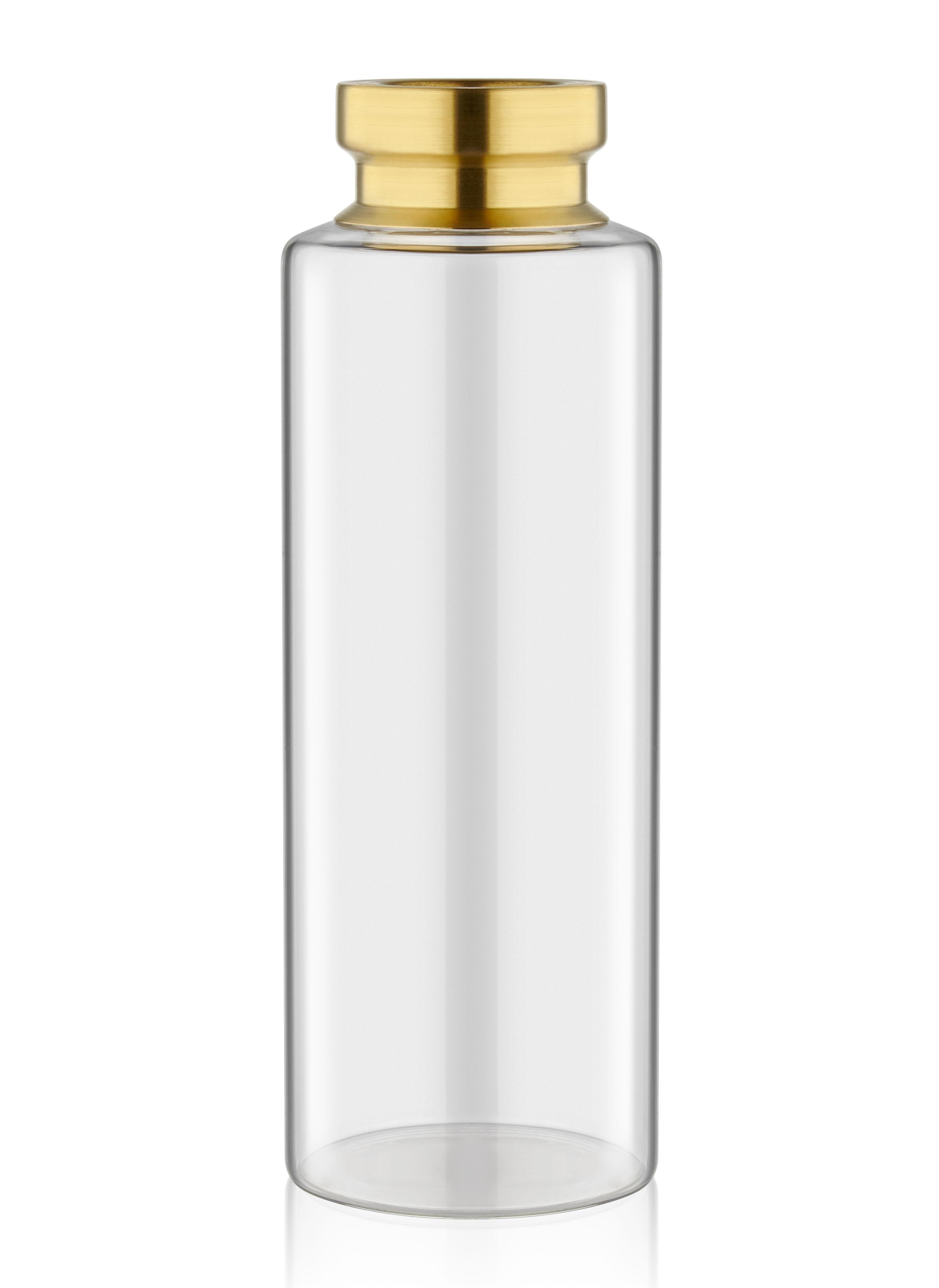 Vaza decorativa din sticla Diamond Big Auriu, Ø10xH30 cm imagine