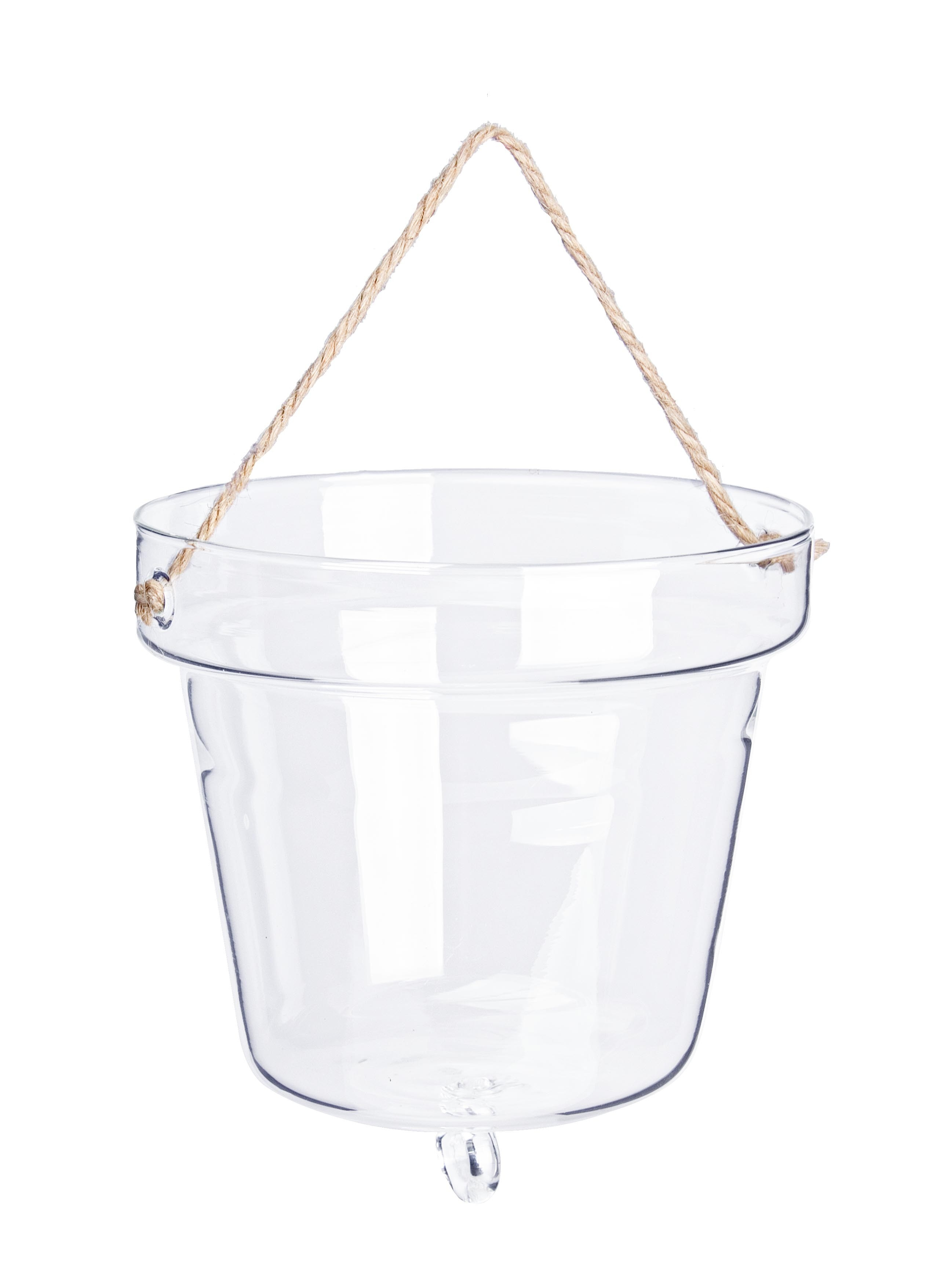 Vaza decorativa suspendata din sticla Bell Transparent, Ø13,1xH14,2 cm poza