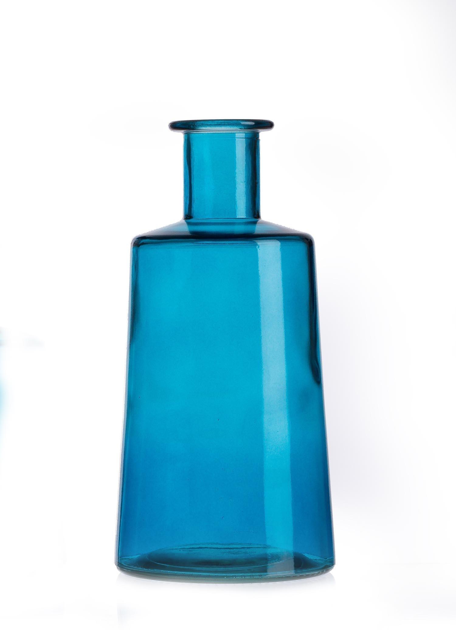 Vaza Pico Blue, Sticla, Ø12xH24 cm