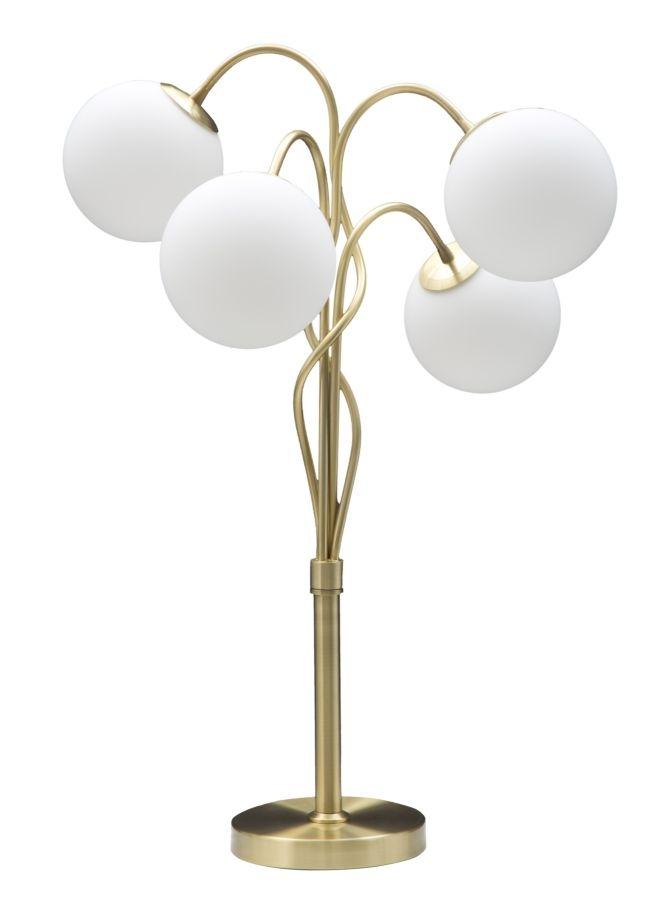 Veioza Glamy Light Auriu / Alb, Ø53xH74 cm
