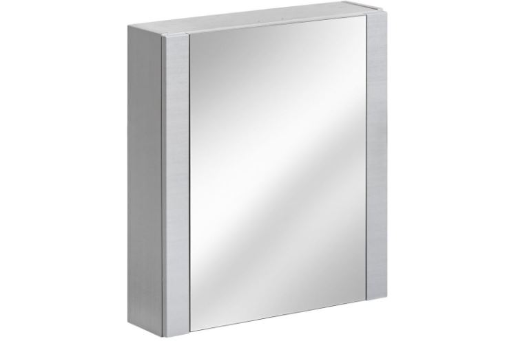 Dulap baie suspendat cu 1 usa si oglinda, Viento Terra, l60xA16xH69 cm imagine