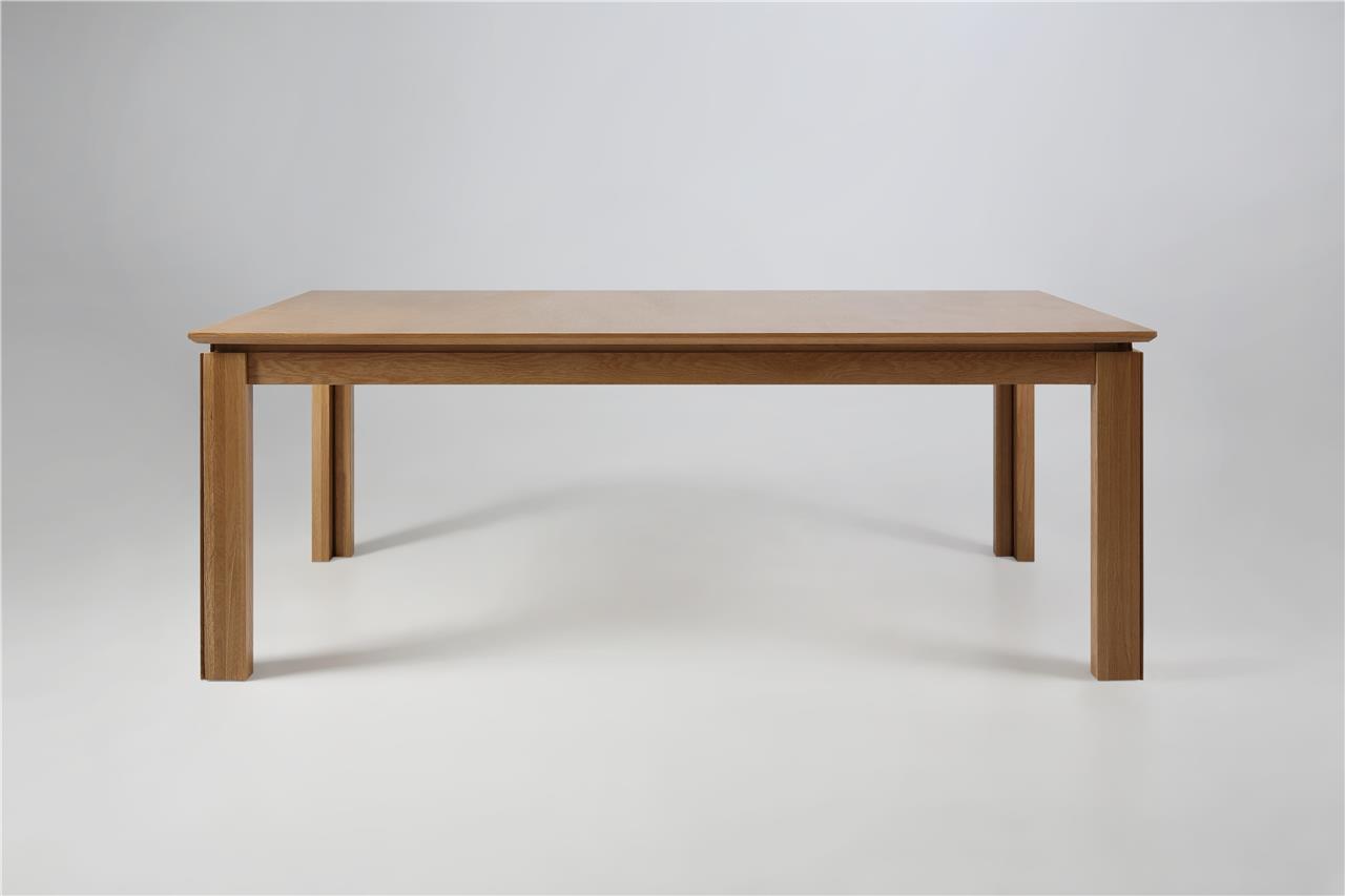 Masa extensibila din lemn si furnir Ventura Oak, L200-404xl100xh75 cm