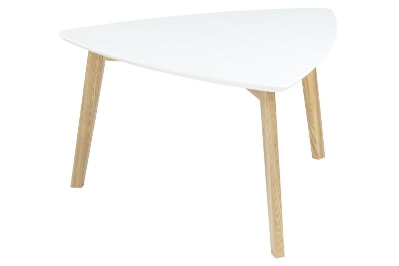 Masa de cafea din lemn si MDF Vitis White, L80xl80xh45 cm