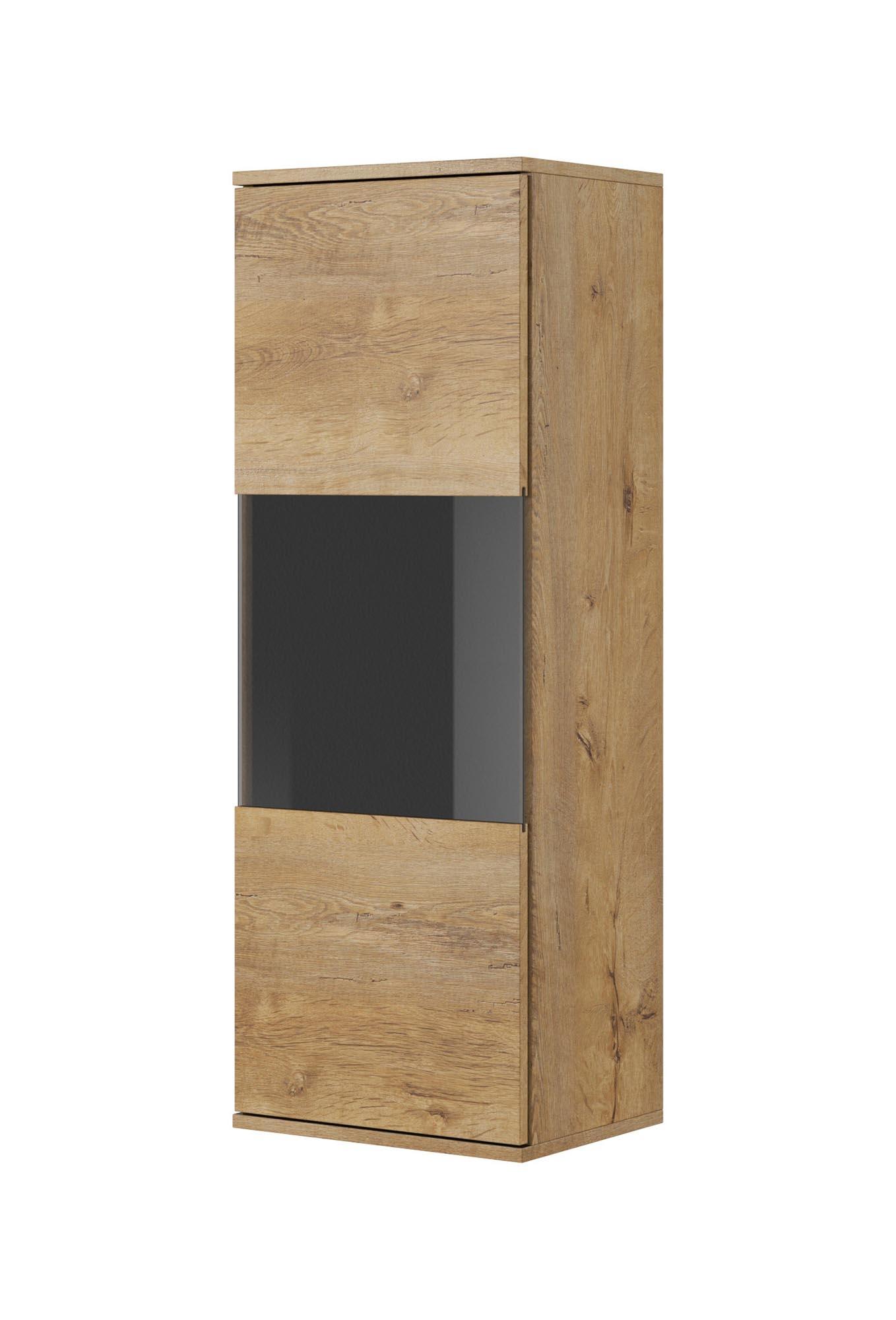 Vitrina suspendata din pal cu 1 usa Nest W-1 Stejar, l40xA30xH110 cm imagine