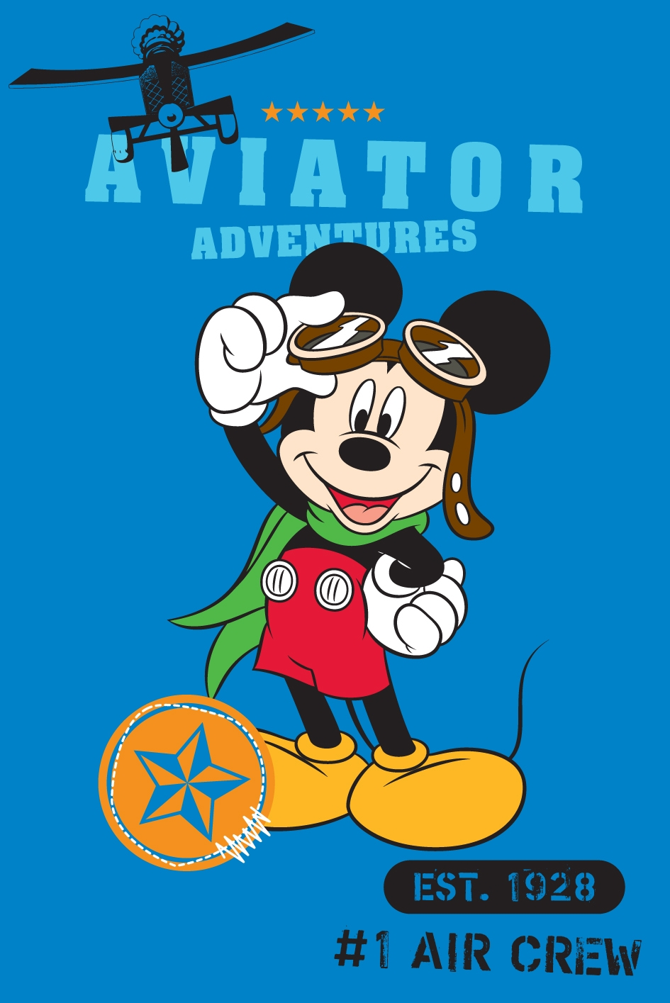 Covor Disney Kids Mickey Aviator Imprimat Digital-80 x 120 cm