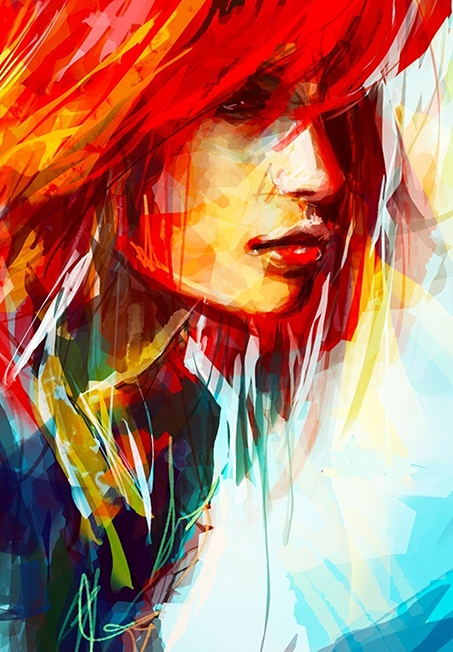 Covor Rainbow Artist Face Imprimat Digital-240 x 160 cm
