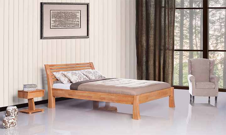 Pat din lemn masiv de fag Baron natural