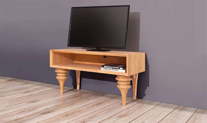 Comoda TV din lemn masiv de fag Parys RTV clear