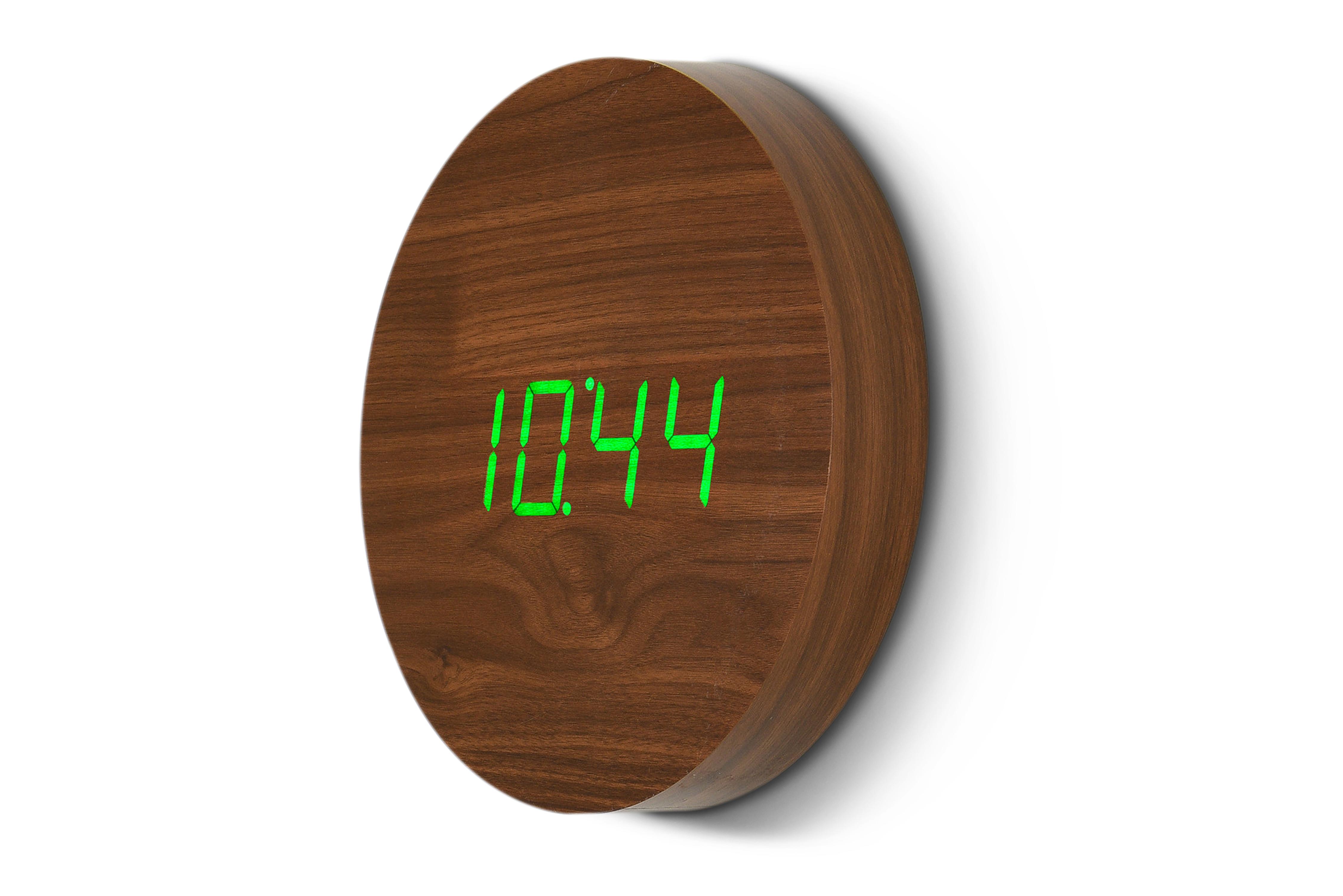 Ceas Wall Click Clock Walnut imagine