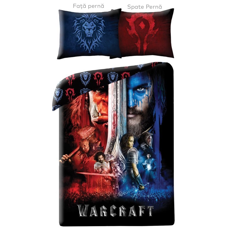 Lenjerie de pat copii Cotton Warcraft WCM-0025