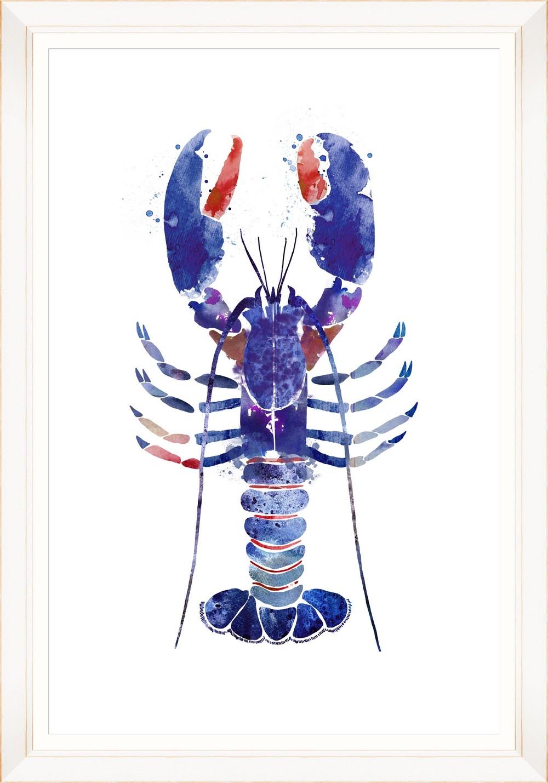 Tablou Framed Art Watercolor Lobster II imagine